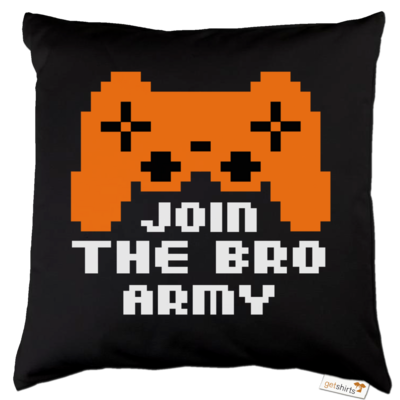 Motiv: Kissen Baumwolle - Join the Bro Army