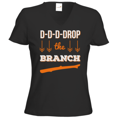 Motiv: T-Shirts Damen V-Neck FAIR WEAR - Drop the Branch