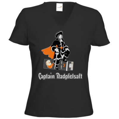 Motiv: T-Shirts Damen V-Neck FAIR WEAR - Captain Nadpfelsaft