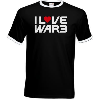 Motiv: T-Shirt Ringer - Back2Warcraft - I love War3