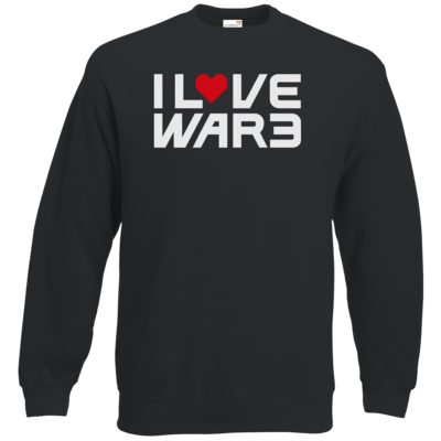 Motiv: Sweatshirt Classic - Back2Warcraft - I love War3