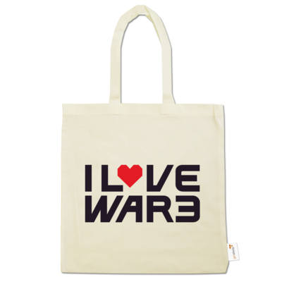 Motiv: Baumwolltasche - Back2Warcraft - I love War3