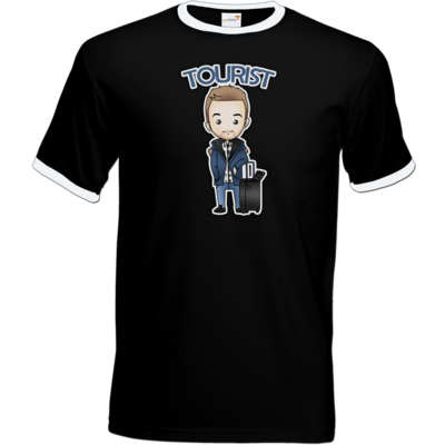Motiv: T-Shirt Ringer - Tourist