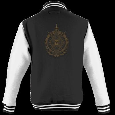 Motiv: College Jacke - B2W Wappen Black