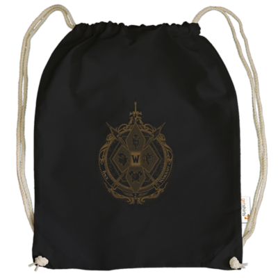 Motiv: Cotton Gymsac - B2W Wappen Black