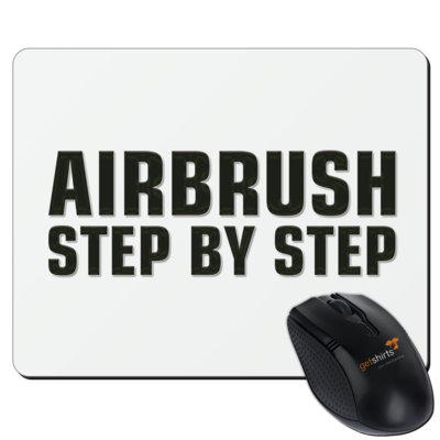 Motiv: Mousepad Textil - Airbrush Step By Step Logo