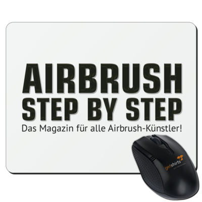 Motiv: Mousepad Textil - Airbrush Step BY Step Slogan