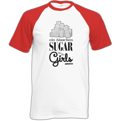 Motiv: Baseball-T FAIR WEAR - Sugar für die Girls
