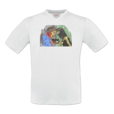 Motiv: T-Shirt V-Neck FAIR WEAR - Die Grillshow - VS