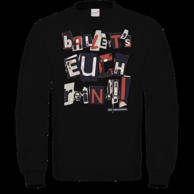 Motiv: Sweatshirt FAIR WEAR - Grillshow Ballerts euch rein