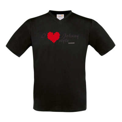 Motiv: T-Shirt V-Neck FAIR WEAR - Grillshow I love Johnny style