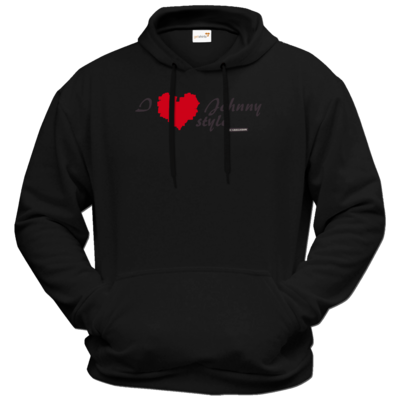 Motiv: Hoodie Premium FAIR WEAR - Grillshow I love Johnny style