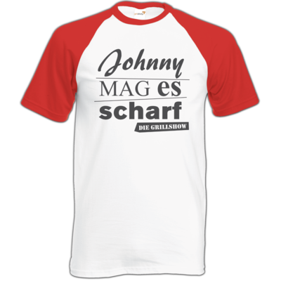 Motiv: Baseball-T FAIR WEAR - Grillshow Johnny mag es scharf