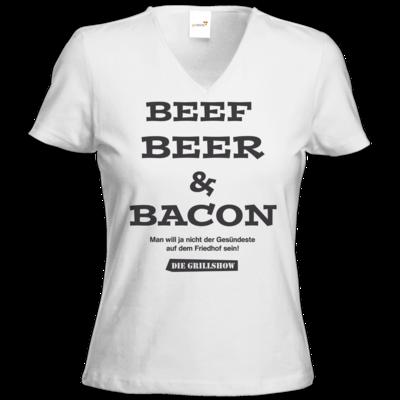 Motiv: T-Shirts Damen V-Neck FAIR WEAR - Grillshow nicht der Gesuendeste
