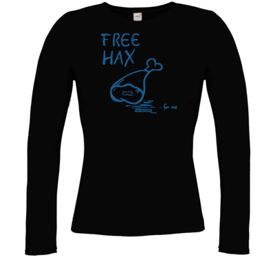 Motiv: Longsleeve Damen FAIR WEAR - Free Hax blau