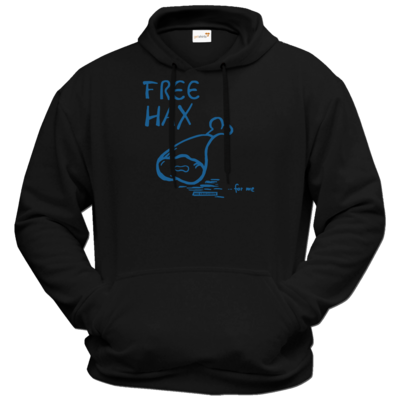 Motiv: Hoodie Premium FAIR WEAR - Free Hax blau