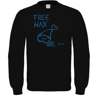 Motiv: Sweatshirt FAIR WEAR - Free Hax blau