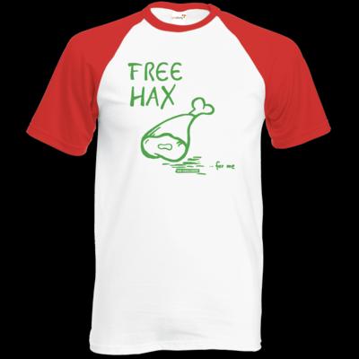 Motiv: Baseball-T FAIR WEAR - Free Hax gruen