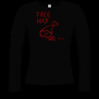 Motiv: Longsleeve Damen FAIR WEAR - Free Hax rot