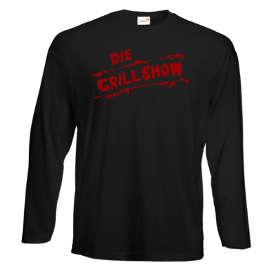 Motiv: Exact 190 Longsleeve FAIR WEAR - Die Grillshow - Logo rot