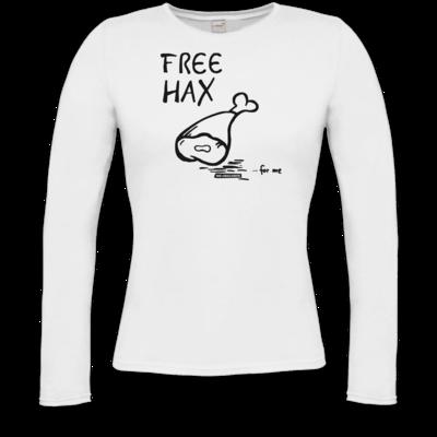 Motiv: Longsleeve Damen FAIR WEAR - Free Hax schwarz