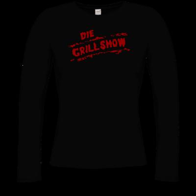 Motiv: Longsleeve Damen FAIR WEAR - Die Grillshow - Logo rot