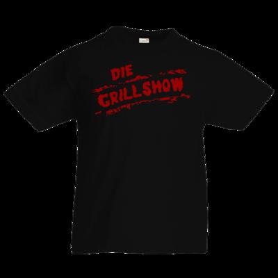 Motiv: Kids T-Shirt Premium FAIR WEAR - Die Grillshow - Logo rot