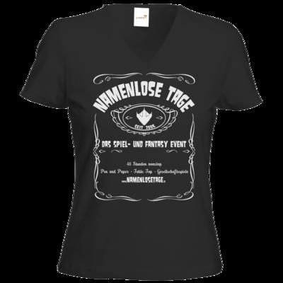 Motiv: T-Shirts Damen V-Neck FAIR WEAR - Namenlose Tage - JD Style