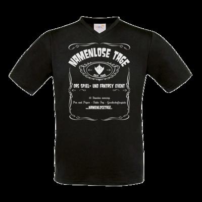 Motiv: T-Shirt V-Neck FAIR WEAR - Namenlose Tage - JD Style