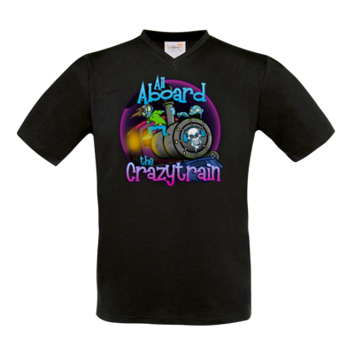Motiv: T-Shirt V-Neck FAIR WEAR - SandcoolTV - Crazytrain