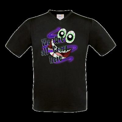 Motiv: T-Shirt V-Neck FAIR WEAR - SandcoolTV - We Are Crazy