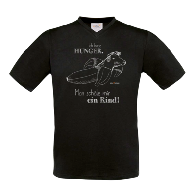 Motiv: T-Shirt V-Neck FAIR WEAR - SizzleBrothers - Grillen - Hunger Rind schälen