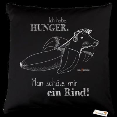 Motiv: Kissen Baumwolle - SizzleBrothers - Grillen - Hunger Rind schälen
