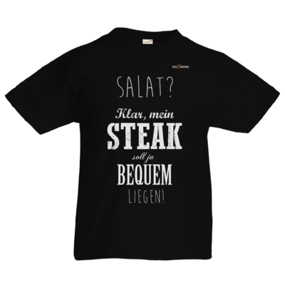 Motiv: Kids T-Shirt Premium FAIR WEAR - SizzleBrothers - Grillen - Salat Steak bequem