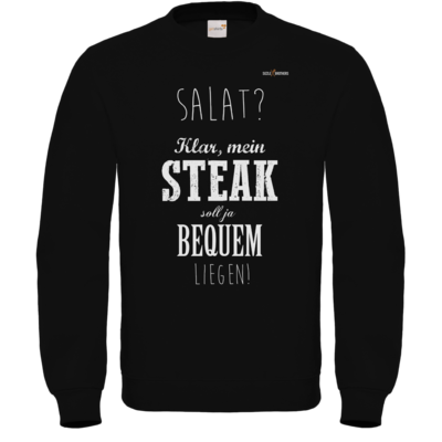 Motiv: Sweatshirt FAIR WEAR - SizzleBrothers - Grillen - Salat Steak bequem