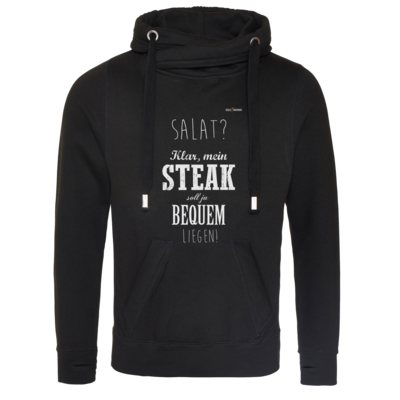 Motiv: Cross Neck Hoodie - SizzleBrothers - Grillen - Salat Steak bequem