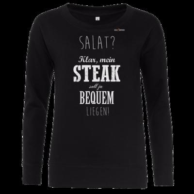Motiv: Girlie Crew Sweatshirt - SizzleBrothers - Grillen - Salat Steak bequem