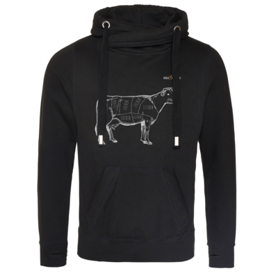 Motiv: Cross Neck Hoodie - SizzleBrothers - Grillen - Meatmap