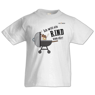 Motiv: Kids T-Shirt Premium FAIR WEAR - SizzleBrothers - Grillen - Ich will ein Rind