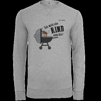 Motiv: Light Crew Sweatshirt - SizzleBrothers - Grillen - Ich will ein Rind