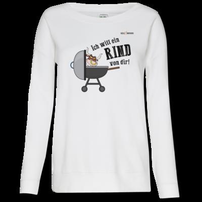 Motiv: Girlie Crew Sweatshirt - SizzleBrothers - Grillen - Ich will ein Rind