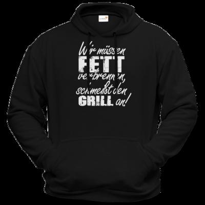 Motiv: Hoodie Premium FAIR WEAR - SizzleBrothers - Grillen - Fett verbrennen