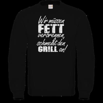 Motiv: Sweatshirt FAIR WEAR - SizzleBrothers - Grillen - Fett verbrennen
