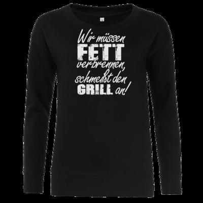 Motiv: Girlie Crew Sweatshirt - SizzleBrothers - Grillen - Fett verbrennen