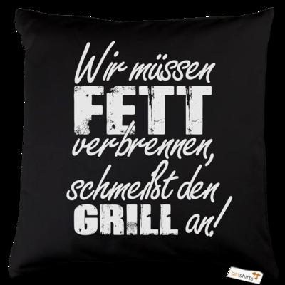 Motiv: Kissen Baumwolle - SizzleBrothers - Grillen - Fett verbrennen