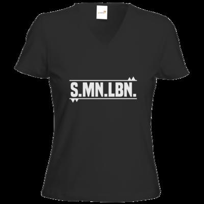 Motiv: T-Shirts Damen V-Neck FAIR WEAR - SMNLBN