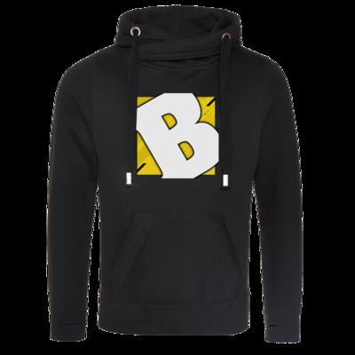 Motiv: Cross Neck Hoodie - Badeschlappen - Logo