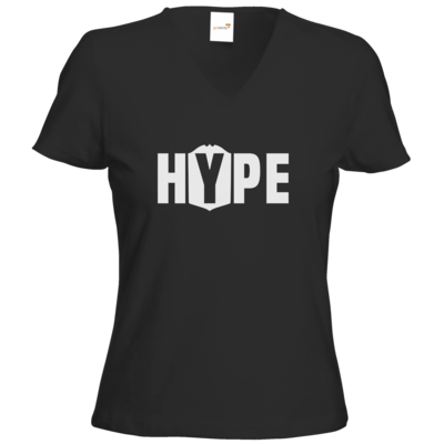 Motiv: T-Shirts Damen V-Neck FAIR WEAR - Hype