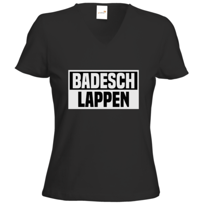 Motiv: T-Shirts Damen V-Neck FAIR WEAR - BADESCHLAPPEN
