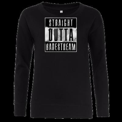 Motiv: Girlie Crew Sweatshirt - Straight Outta Badestream